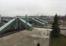 Предпусковое обследование и испытания пешеходного моста на станции Петрозаводск